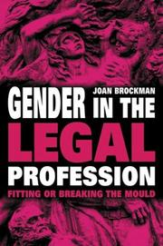 Cover of: Gender in the Legal Profession | Joan Brockman
