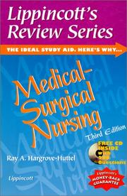 Cover of: Lippincott's Review Series, Medical-Surgical Nursing | Ray A. Hargrove-Huttel