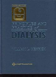 Cover of: Principles and Practice of Dialysis (Principles & Practice of Dialysis) | William L Henrich