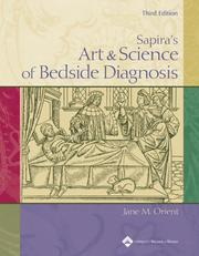 Cover of: Sapira's art & science of bedside diagnosis | Jane M. Orient