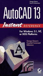 Cover of: AutoCAD 13 instant reference | George Omura