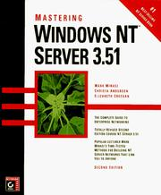 Cover of: Mastering Windows NT server 3.51 | Mark Minasi