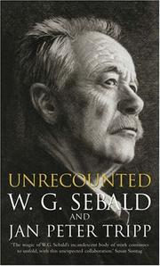 Cover of: Unrecounted | W.G. Sebald