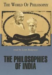 Cover of: The Philosophies of India (World of Philosophy) | Doug Allen