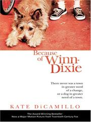 Cover of: Because of Winn-Dixie | Kate DiCamillo