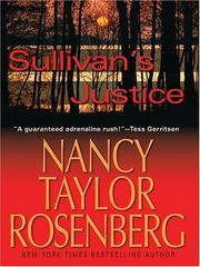 Cover of: Sullivan's justice | Nancy Taylor Rosenberg