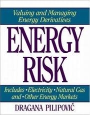Cover of: Energy Risk by Dragana Pilipovic