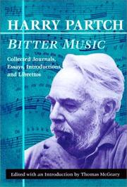 Cover of: Bitter Music | Harry Partch