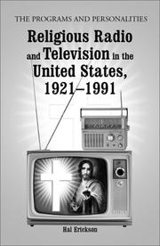 Cover of: Religious radio and television in the United States, 1921-1991 | Hal Erickson