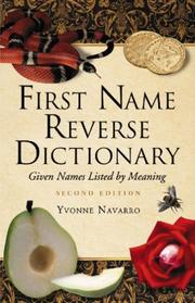 Cover of: First Name Reverse Dictionary by Yvonne Navarro