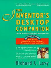 Cover of: The inventor's desktop companion by Levy, Richard C.