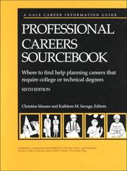 Cover of: Professional Careers Sourcebook by Infoplace (Career Information Center)