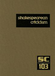 Cover of: Shakespearean Criticism | Michelle Lee