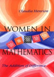 Cover of: Women in mathematics | Claudia Henrion