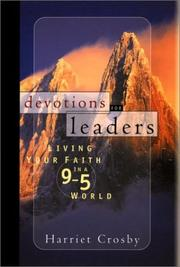 Cover of: Devotions for leaders | Harriet Crosby