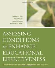 Cover of: Assessing Conditions to Enhance Educational Effectiveness | John H. Schuh