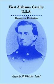 Cover of: First Alabama Cavalry, U.S.A by Glenda McWhirter Todd
