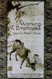 Cover of: Working emptiness by Newman Robert Glass