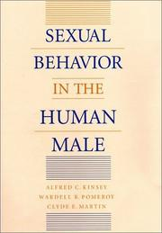 Cover of: Sexual behavior in the human male | Alfred Charles Kinsey