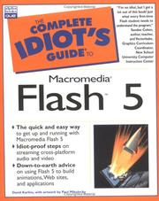 Cover of: Complete Idiot's Guide to Macromedia Flash 5 | David Karlins
