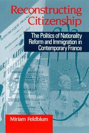 Cover of: Reconstructing citizenship | Miriam Feldblum