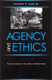 Cover of: Agency and Ethics | Anthony F. Lang