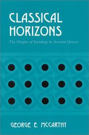 Cover of: Classical Horizons | George E. McCarthy