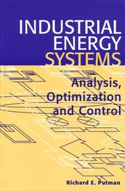 Cover of: Industrial Energy Systems | Richard E. Putman