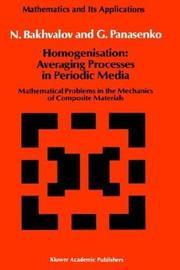 Cover of: Homogenisation | N. S. Bakhvalov