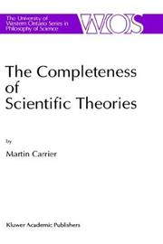 Cover of: The completeness of scientific theories by Martin Carrier