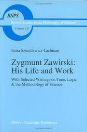 Cover of: Zygmunt Zawirski, his life and work by Irena Szumilewicz-Lachman