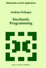 Cover of: Stochastic programming by A. Prékopa