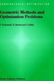 Cover of: Geometric methods and optimization problems by V. G. Bolti͡a︡nskiĭ