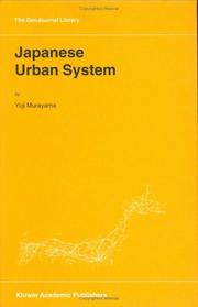 Cover of: Japanese Urban System (GeoJournal Library) | Y. Murayama