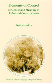 Cover of: Elements of Control by Idan Landau