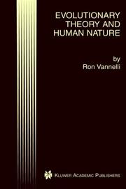 Cover of: Evolutionary Theory and Human Nature | Ron Vannelli