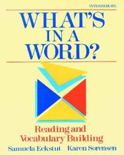Cover of: What's in a word? | Samuela Eckstut-Didier