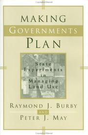 Cover of: Making governments plan | Burby, Raymond J.