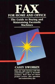 Cover of: Fax for home and office by Casey Dworkin
