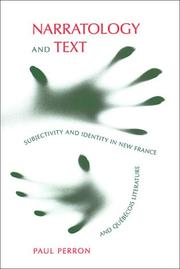 Cover of: Narratology and text | Paul Perron