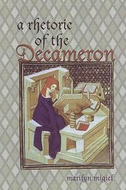 Cover of: A rhetoric of the Decameron | Marilyn Migiel