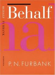 Cover of: Behalf | P. N. Furbank