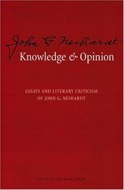Cover of: Knowledge and opinion by John Gneisenau Neihardt