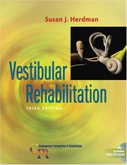 Cover of: Vestibular Rehabilitation (Contemporary Perspectives in Rehabilitation) | Susan J. Herdman