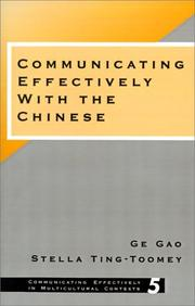 Cover of: Communicating effectively with the Chinese | Ko Kao