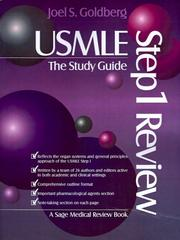 Cover of: USMLE Step 1 Review: The Study Guide (USMLE: Step 1 Review Series) by Joel Goldberg