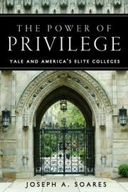 Cover of: The Power of Privilege | Joseph Soares