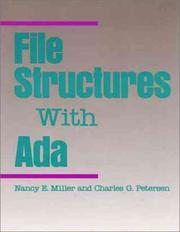 Cover of: File structures with Ada | Miller, Nancy E.