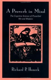 Cover of: A proverb in mind by Richard P. Honeck