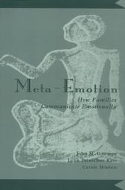 Cover of: Meta-emotion by John Mordechai Gottman